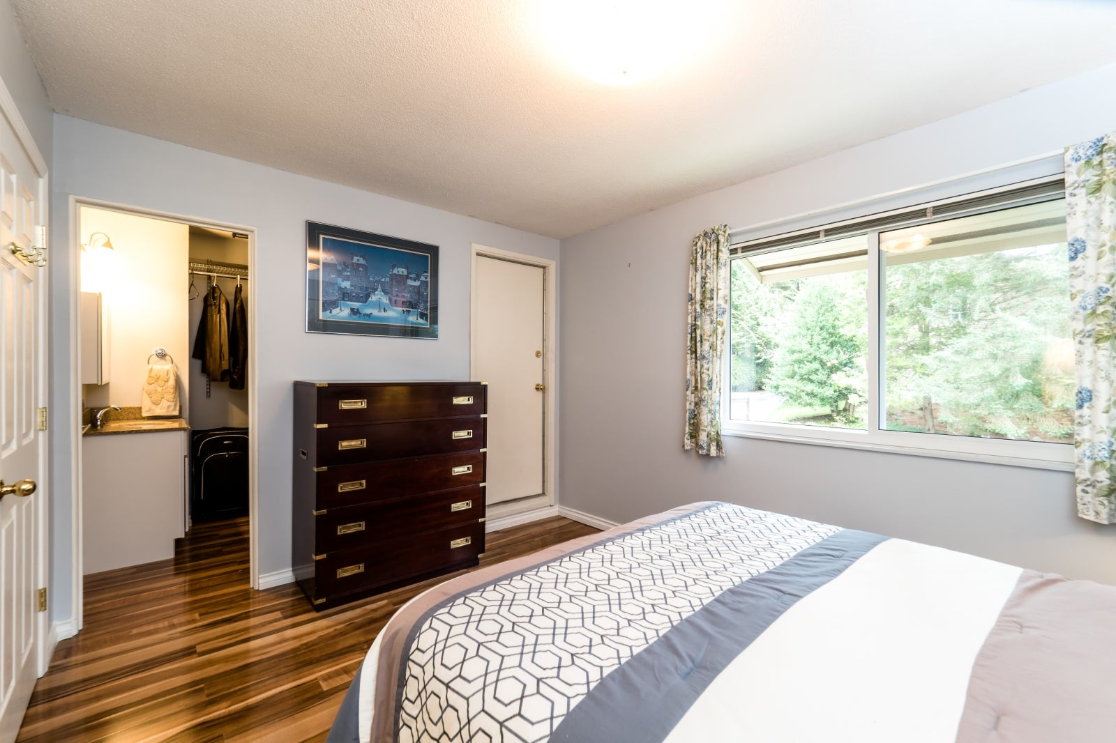 Master Bedroom with Balcony and Large Walk-In Closet